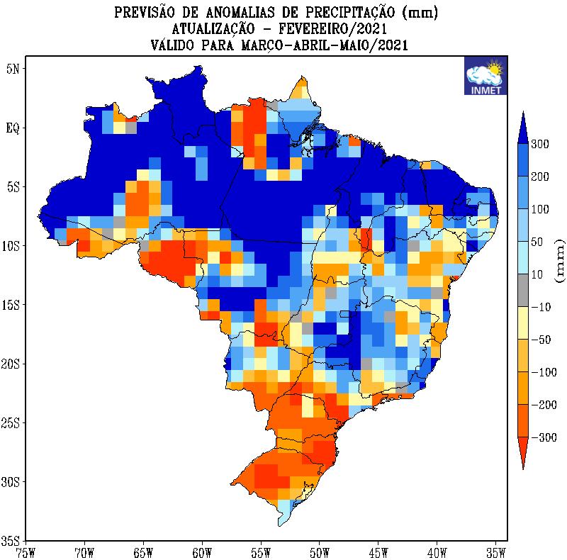 Previsão de Anomalias de Precipitação