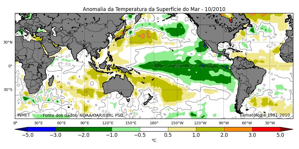 La Niña: meteorologistas do INMET preveem fenômeno para meados de outubro.